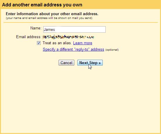 Enter your name POP3 SMTP Gmail